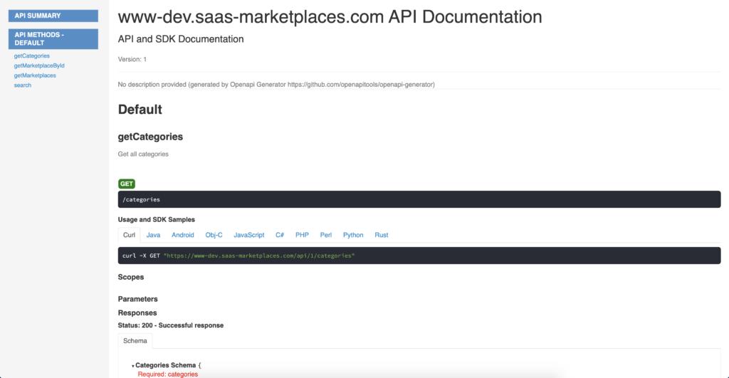 A nice looking serverless REST API documentation using openapi-generator