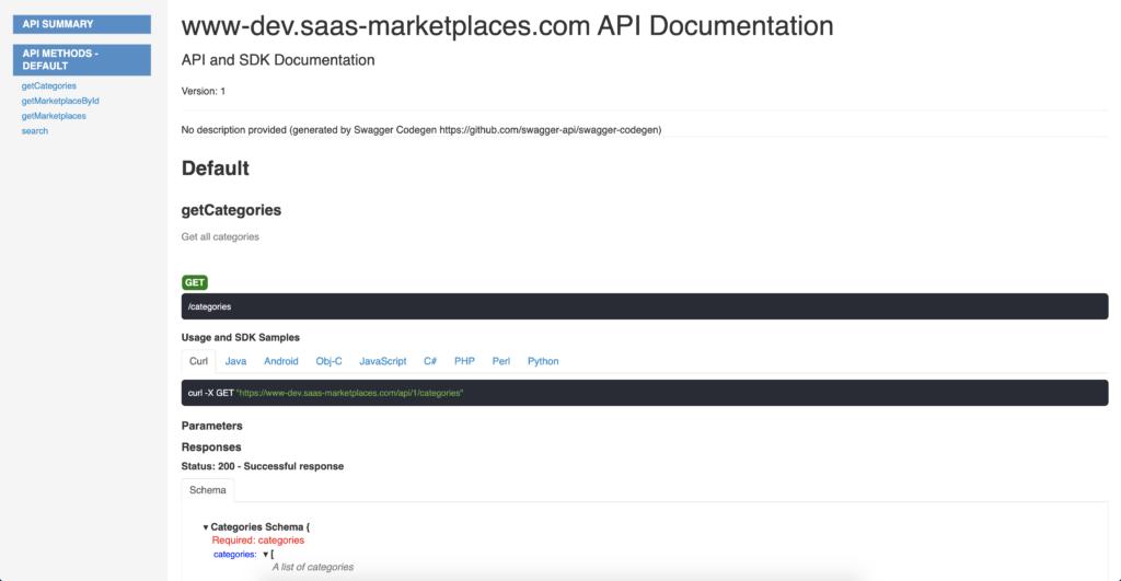 A nice looking serverless REST API documentation using swagger-codegen